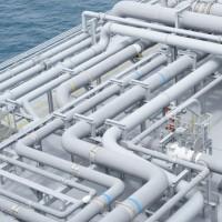 Fotografía tuberias gas planta de regasificacion