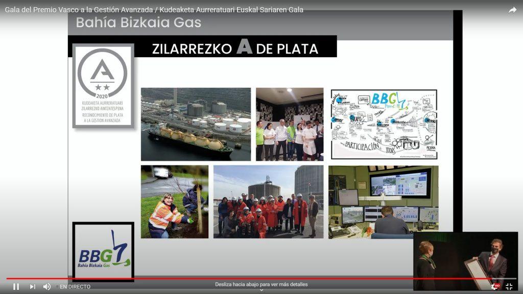 Bahía de Bizkaia Gas galardonada por su alto nivel en gestión avanzada